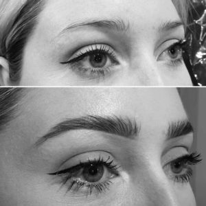 Eyebrow before and after at The Eastwood Retreat Beauty Salon in Eastwood